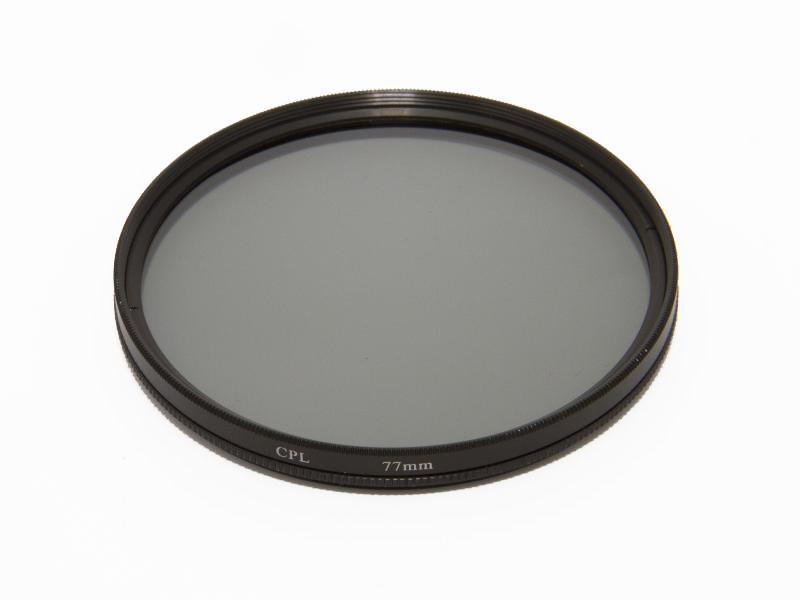 Cirkulärt polarisationsfilter 77mm