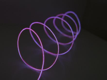 EL-ljuslina 2,3mm, 3 meter, cerise
