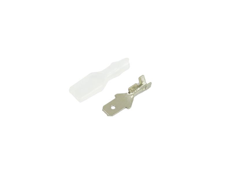 Flatstift 4,8 mm med transparent isoleringhylsa 10-pack