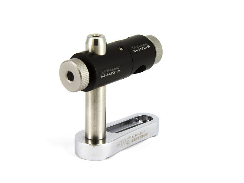 Hållare för lasermodul 12 mm, 2 axlar