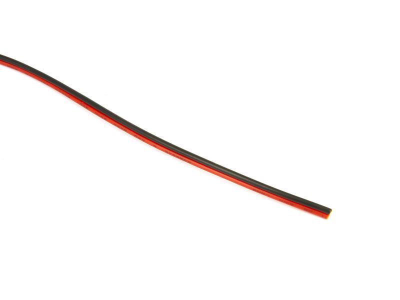 Kabel två ledare svart och röd 0,5 mm2 PVC