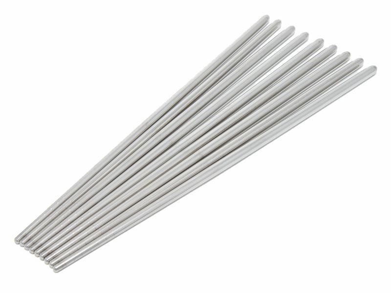 Kinesiska ätpinnar i rostfritt stål - 4 par
