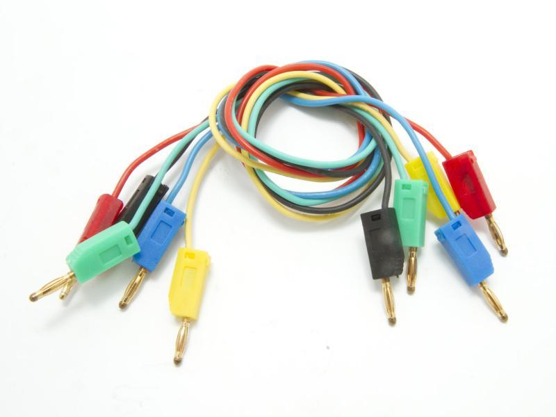 Labbkabel av silikon i olika färger