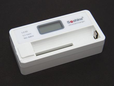 Laddare i litet format med display, USB