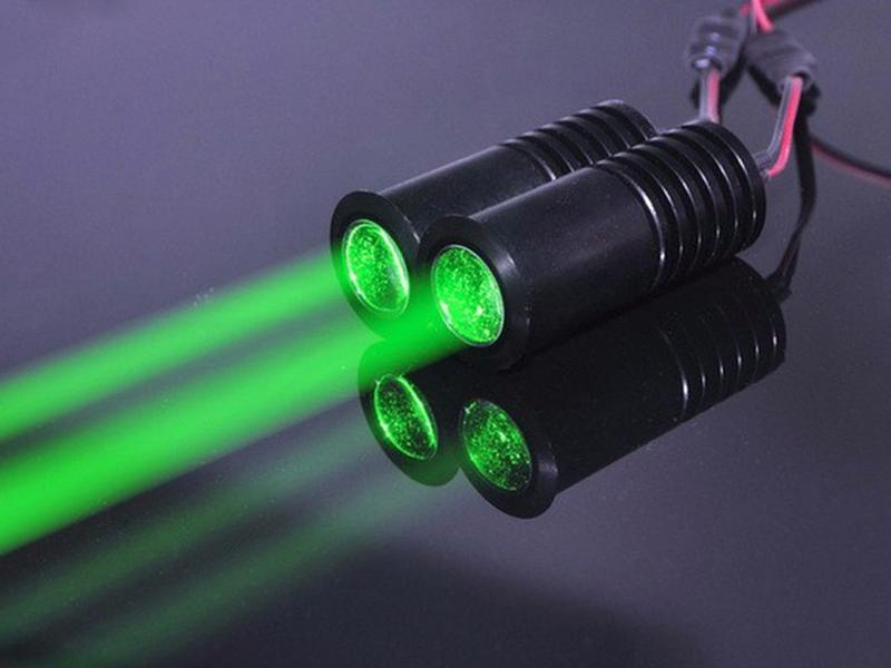 Lasermodul, grön 50mW bredstrålig