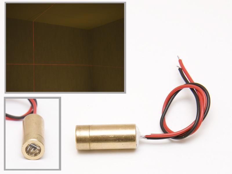 Lasermodul, röd 1 mW med krysslins