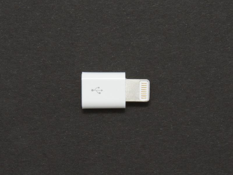 Microadapter Lightning till micro USB för iPhone 5
