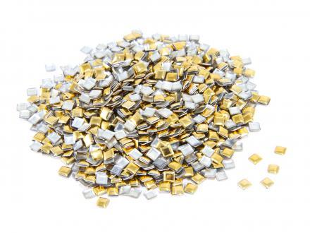 Nagelnitar - Guld, 3x3 mm