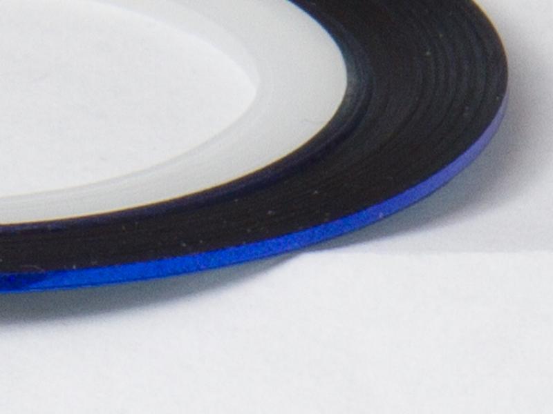 Nageltejp - Blå metallic