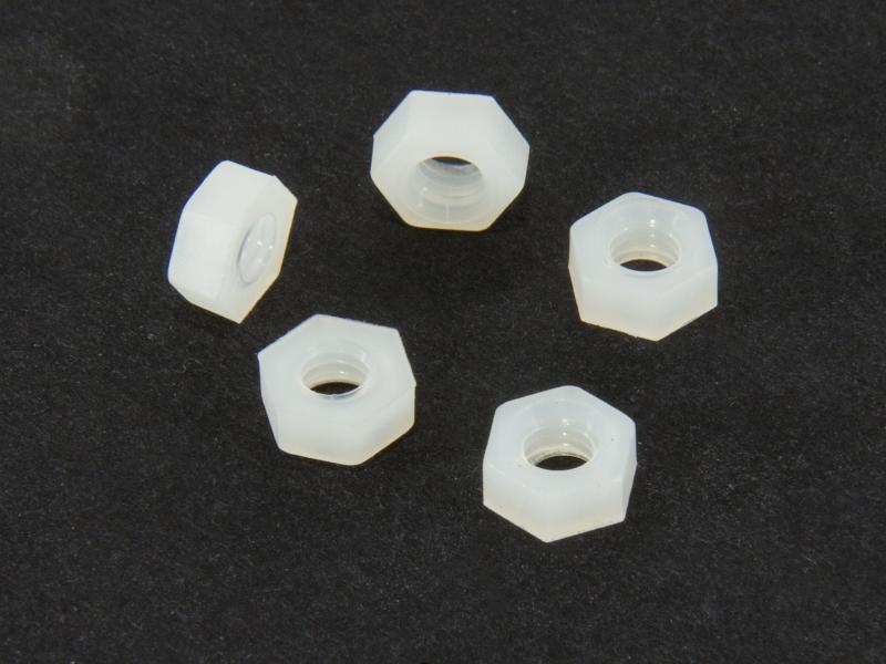 Nylonmutter M4, 5 st