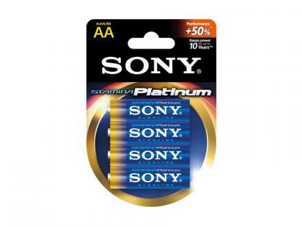 Sony Stamina Platinum AA alkaliskt batteri 4-pack
