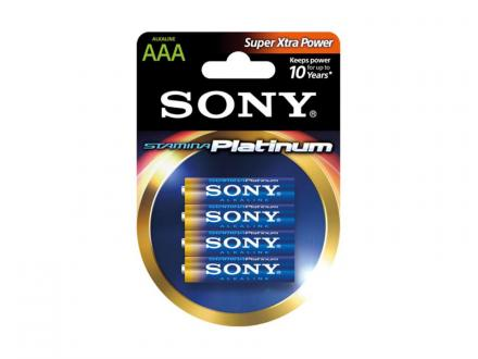 Sony Stamina Platinum AAA alkaliskt batteri 4-pack
