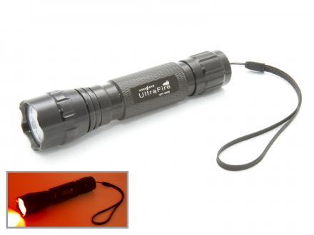 UltraFire WF-501B Ficklampa med rött ljus. 3Watt
